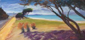 Beach Side Portarlington Oil on canvas 79x41 cms $350